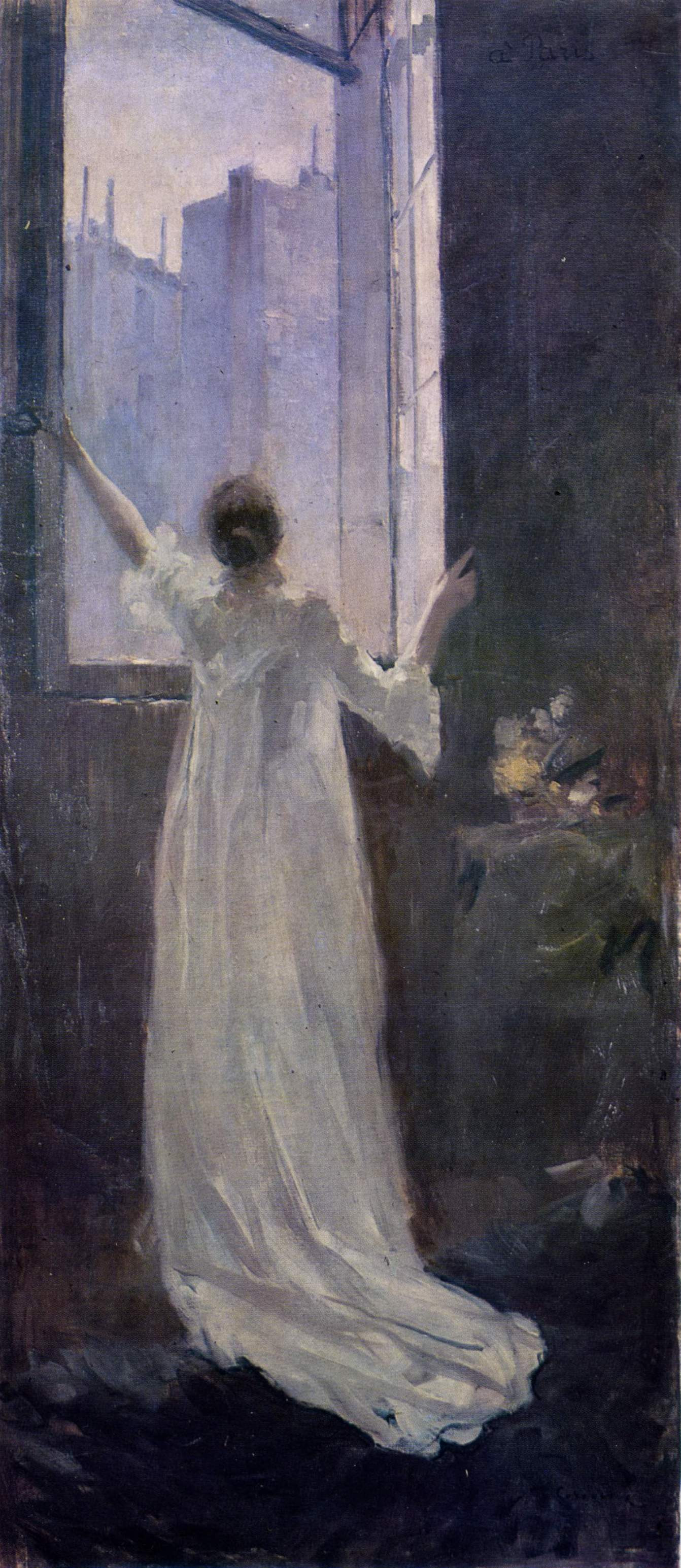 at the window 1893 the lvov picture gallery lvov ukraine